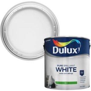 Dulux Pure Brilliant White Silk Emulsion Paint 2.5l