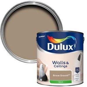Dulux Walls & Ceilings Brave Ground Silk Emulsion Paint  2.5l