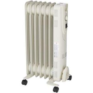 OPP Electric 1500w Beige Oil-filled Radiator