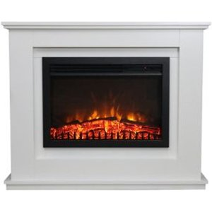 Focal Point Medford White Electric Fire Suite