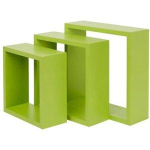 Form Rigga Green Cube Cube Shelf (d)98mm  Set Of 3