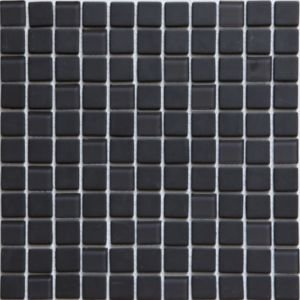 Colours Genovia Black & Grey Glass Mosaic Tile  (l)300mm (w)300mm
