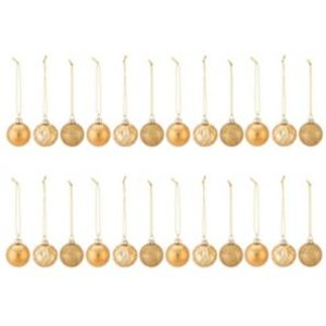 Gold Assorted Bauble  Pack Of 24