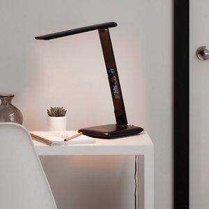 Goodhome Conjola Matt Black Led Desk Lamp