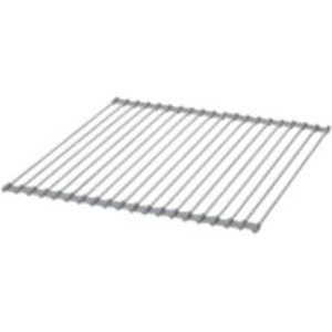 Goodhome Datil Stainless Steel & Silicone Silver Roll-up Drying Mat & Trivet