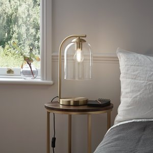 Goodhome Thestias Brushed Brass Effect Table Light