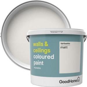 Goodhome Walls & Ceilings Fairbanks Matt Emulsion Paint 5l