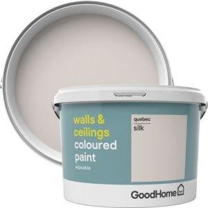 Goodhome Walls & Ceilings Quebec Silk Emulsion Paint 2.5l