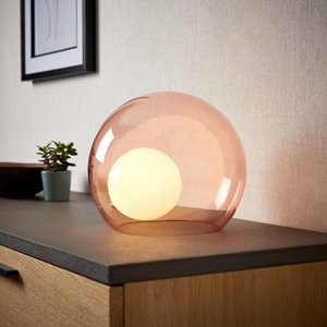 Half Moon Pink Round Table Lamp