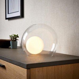 Half Moon White Round Table Lamp