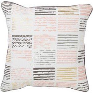 Hasch Printed Hash Tag Multicolour Cushion (l)40cm X (w)40cm