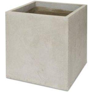 Blooma Hoa Light Grey Concrete Effect Fibre Clay Plant Pot (dia)46cm