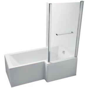 Ideal Standard Imagine Rh Acrylic L Shaped Shower Bath  Front Panel & Screen (l)1695mm (w)