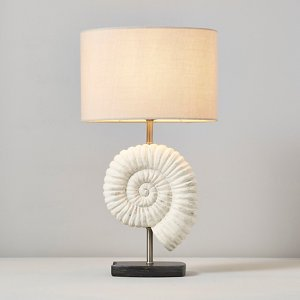 Inlight Lucid Grey & White Led Oval Table Lamp