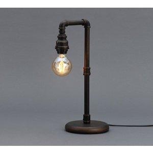 Inlight Parel Pipe Matt Bronze Effect Incandescent Table Lamp