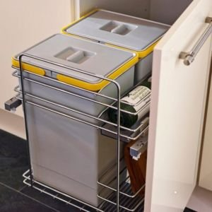 It Kitchens Grey Rectangular Integrated Kitchen Bin