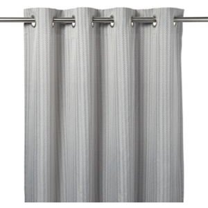 Jalna Grey Herringbone Unlined Eyelet Curtain (w)167cm (l)228cm  Single