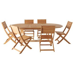 Kuantan Wooden 6 Seater Dining Set