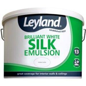 Leyland Brilliant White Silk Emulsion Paint 10l