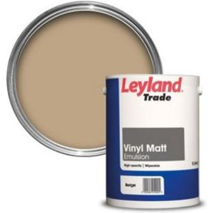 Leyland Trade Pale Beige Matt Emulsion Paint  5l