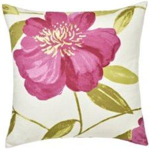 Goodhome Louga Floral Green  Pink & White Cushion
