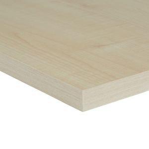 Maple Effect Fully Edged Chipboard Furniture Board  (l)0.8m (w)200mm (t)18mm