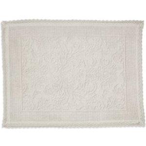 Marinette Saint-tropez Platinum Cream Floral Cotton Bath Mat (l)500mm (w)700mm