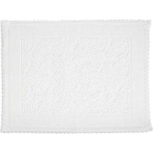 Marinette Saint-tropez Platinum White Floral Cotton Bath Mat (l)500mm (w)700mm