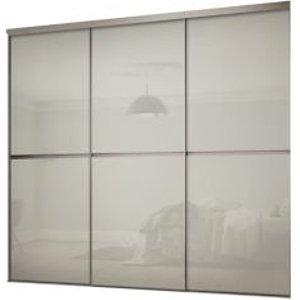 Spacepro Minimalist Arctic White 3 Door Sliding Wardrobe Door Kit (h)2260mm (w)1790mm