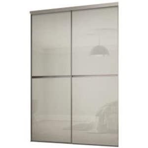 Spacepro Minimalist Arctic White Sliding Wardrobe Door Kit (h)2260 Mm (w)1200mm  Pack Of 2
