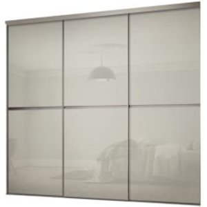Spacepro Minimalist Arctic White Sliding Wardrobe Door Kit (h)2260 Mm (w)2702mm  Pack Of 3