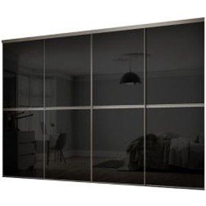 Spacepro Minimalist Black 4 Door Sliding Wardrobe Door Kit (h)2260mm (w)3008mm