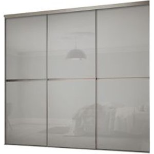 Spacepro Minimalist Grey 3 Door Sliding Wardrobe Door Kit (h)2260mm (w)2702mm