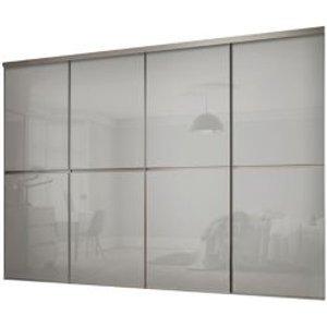 Spacepro Minimalist Grey 4 Door Sliding Wardrobe Door Kit (h)2260mm (w)3008mm