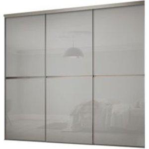 Spacepro Minimalist Grey Sliding Wardrobe Door Kit (h)2260 Mm (w)2246mm  Pack Of 3