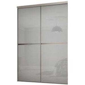 Spacepro Minimalist Grey Sliding Wardrobe Door Kit (h)2260 Mm (w)1504mm  Pack Of 2