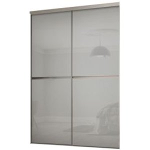 Spacepro Minimalist Grey Sliding Wardrobe Door Kit (h)2260 Mm (w)1200mm  Pack Of 2
