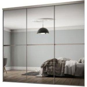 Spacepro Minimalist Mirrored Sliding Wardrobe Door Kit (h)2260 Mm (w)1790mm  Pack Of 3