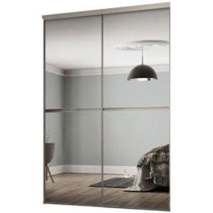 Spacepro Minimalist Mirrored 2 Door Sliding Wardrobe Door Kit (h)2260mm (w)1808mm
