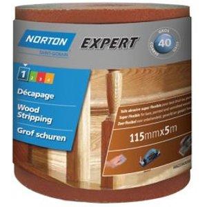 Norton Expert 40 Grit Sanding Roll (l)5000mm (w)115mm