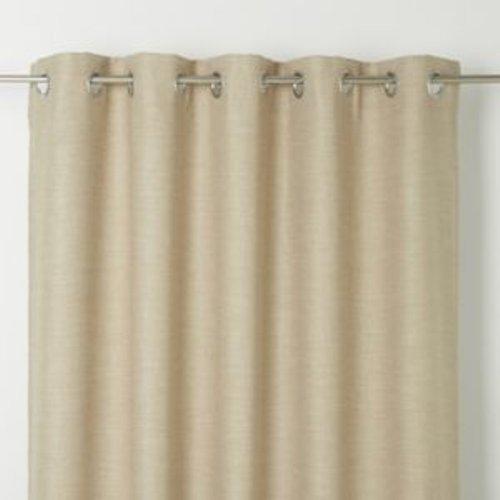 Goodhome Novan Beige Plain Unlined Eyelet Curtain (w)167cm (l)183cm  Single