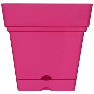Verve Nurgul Pink Plastic Square Plant Pot (dia)38cm