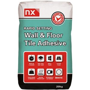 Nx Rapid Set White Tile Adhesive  20kg