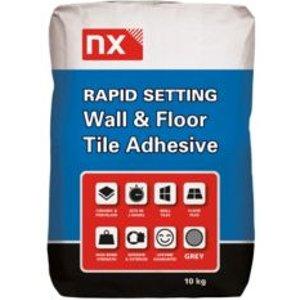 Nx Rapid Setting Powder Wall & Floor Tile Adhesive  Grey 10 Kg