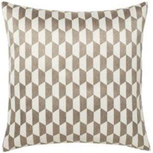 Onyx Geometric Grey & White Cushion