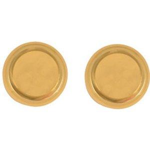 B&q Polished Brass Effect Round Door Knob (dia)57.35mm  Pair