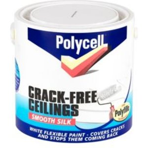 Polycell Crack Free White Smooth Silk Emulsion Paint 2.5l