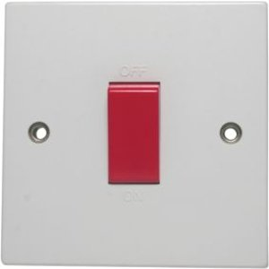 Pro Power 45a White Switched Cooker Switch & Socket