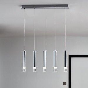 Goodhome Rossak Chrome Effect 5 Lamp Pendant Ceiling Light  (dia)660mm
