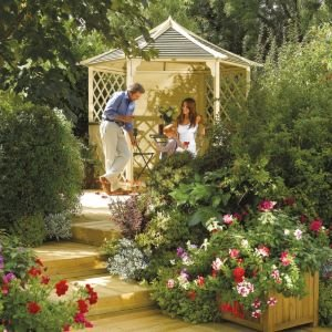 Rowlinson Gainsborough Natural Gazebo With Assembly Service